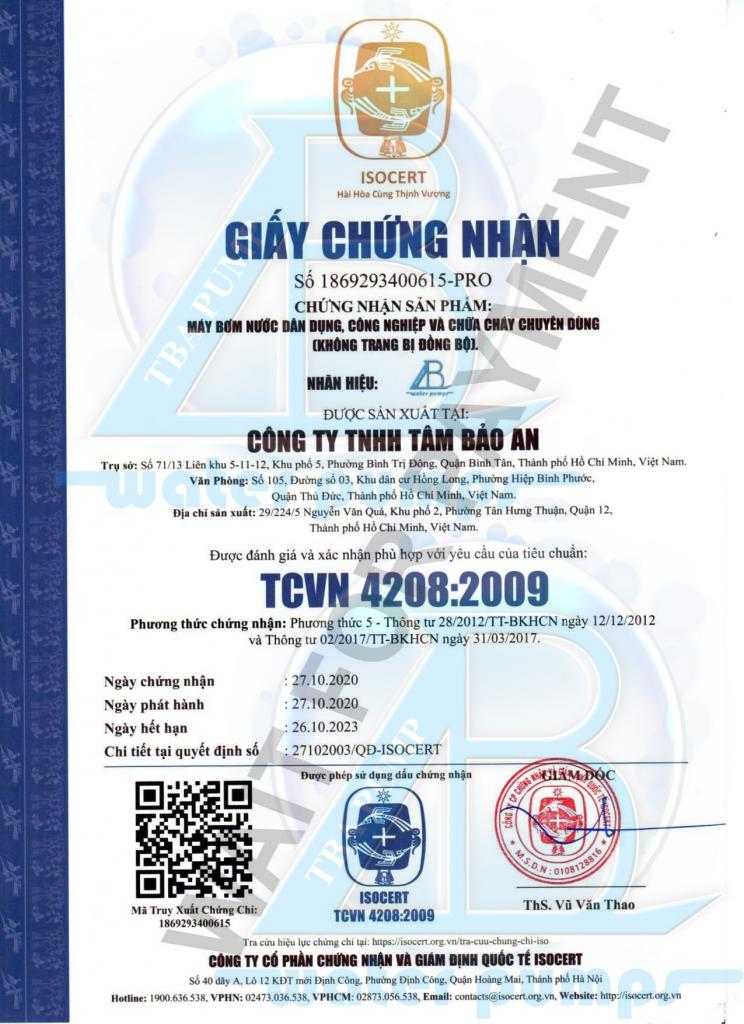 Tâm Bảo An TCVN 4208